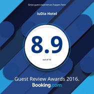 Guest Review Awards 2016 Booking.com